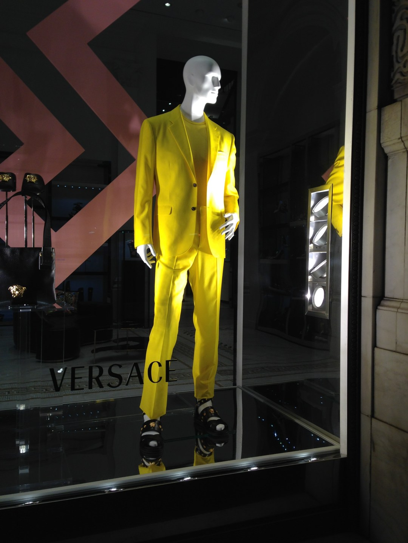 Versace window on Fifth Avenue in New York