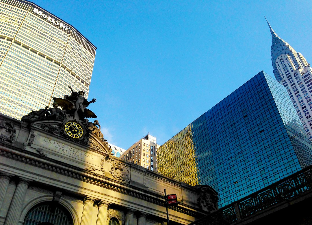Grand Central, MetLife (Pan Am) and Chrysler buildings
