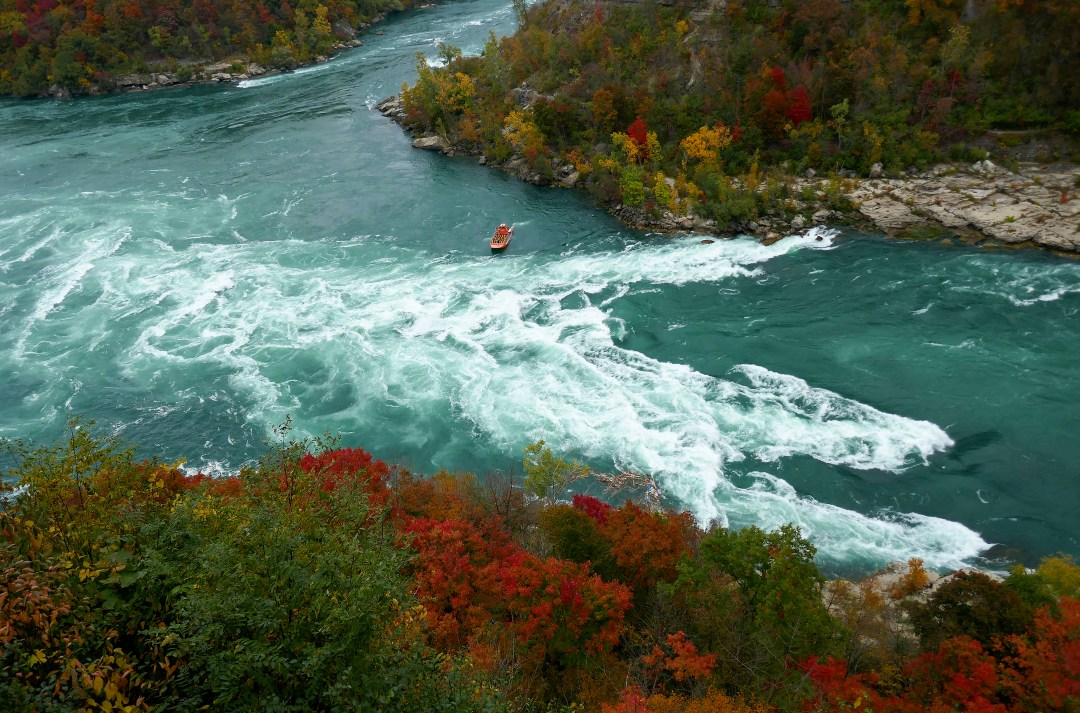 Whirlpool Jet Boat in Devil's Hole rapids in Niagara Gorge
