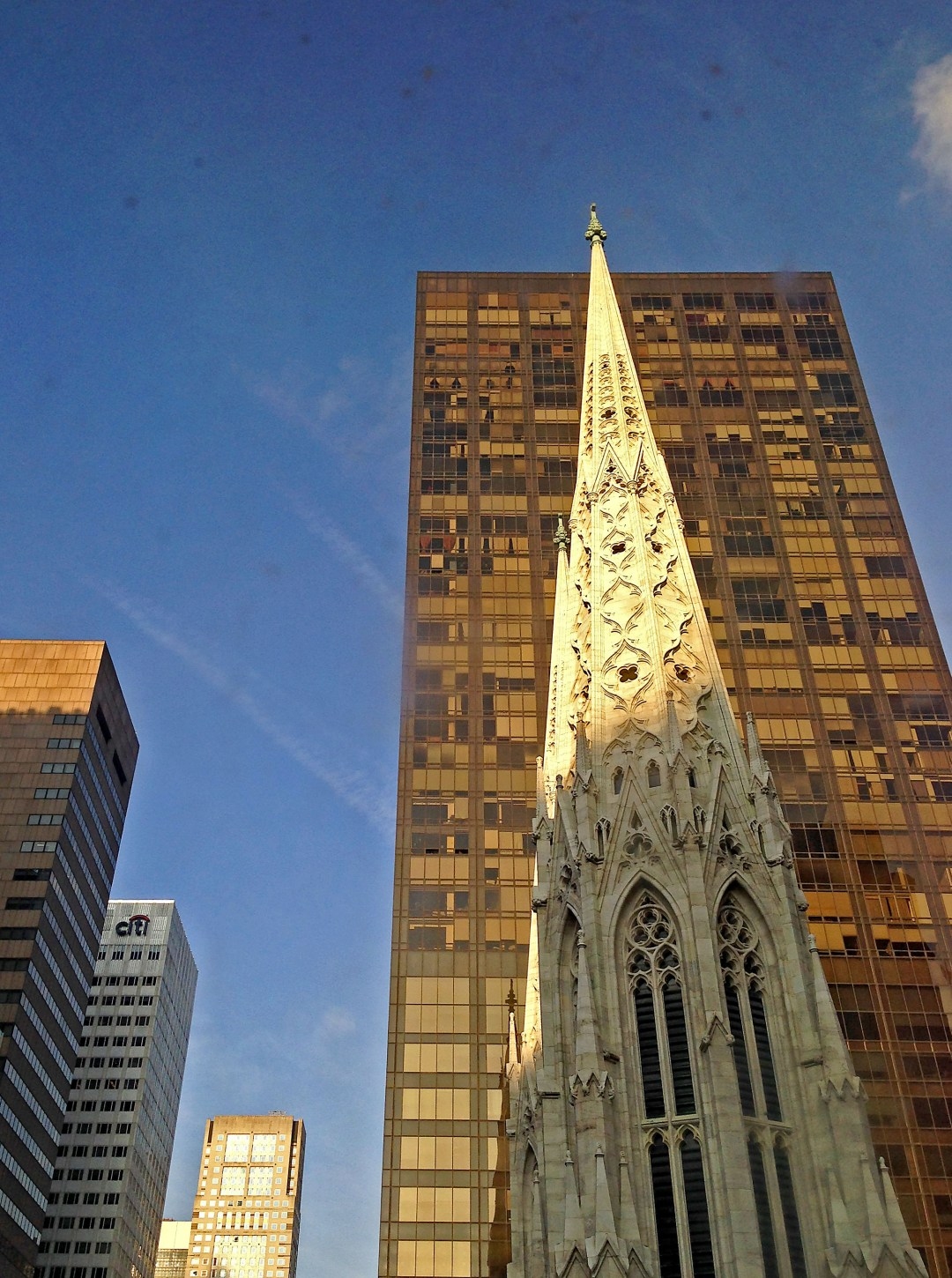 Spire of St Patrick's Cathedral in New York