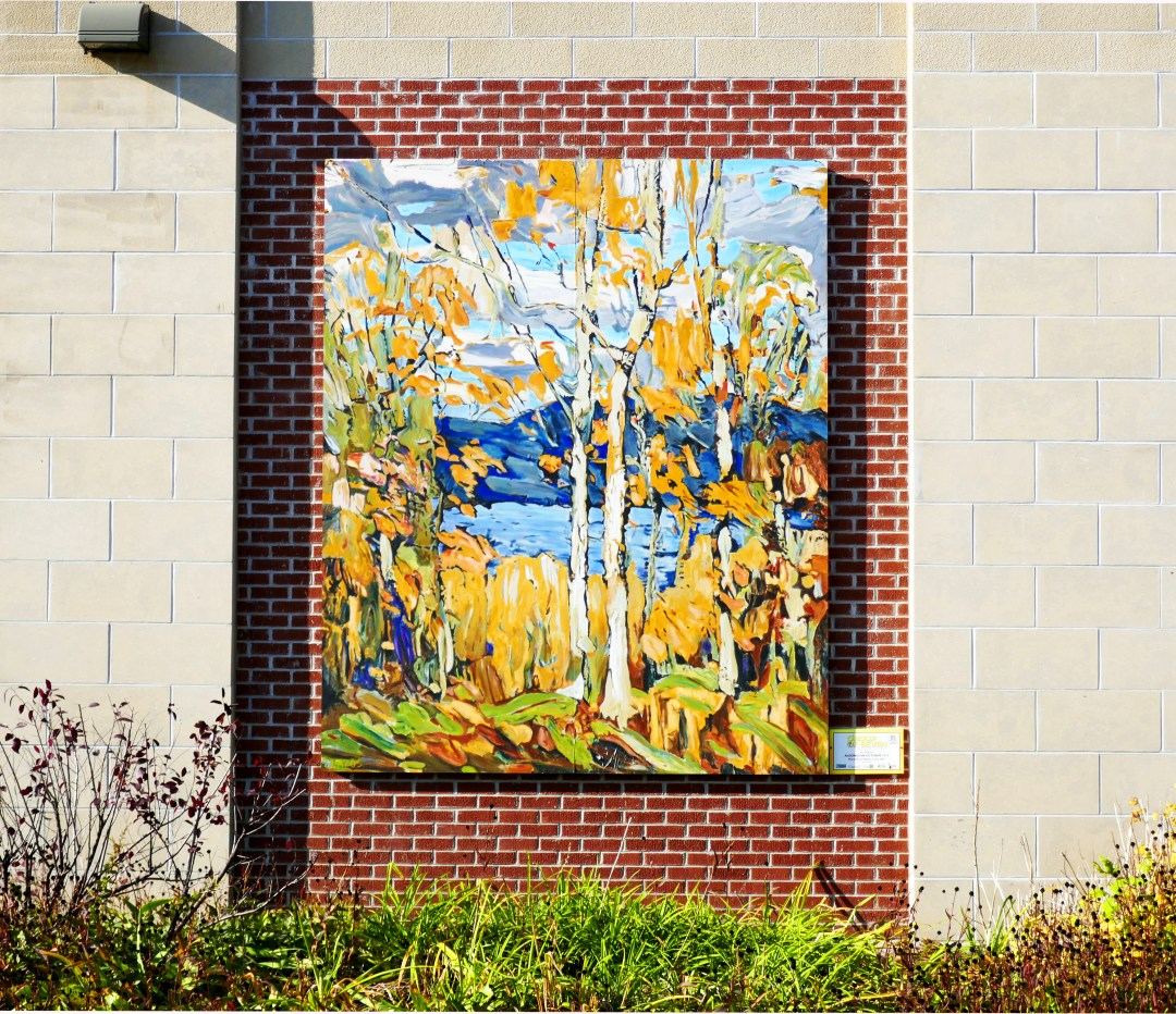 Mural of Tom Thomson Autumn in October