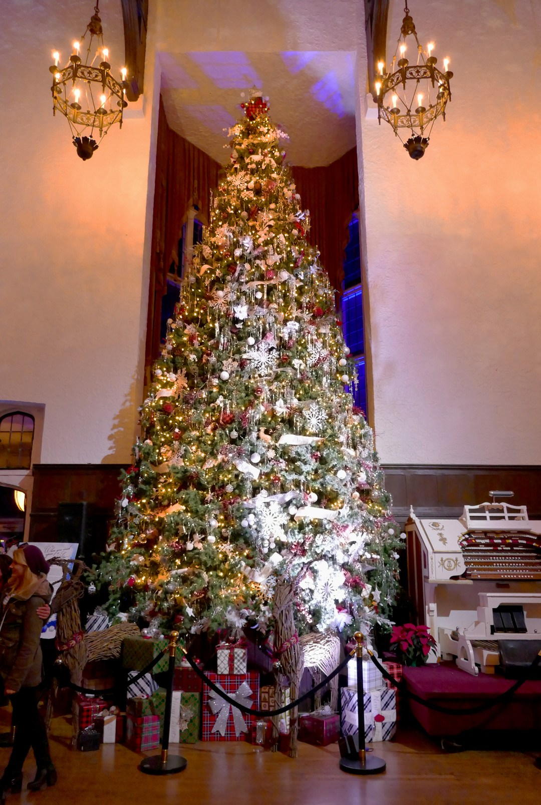 Christmas tree at Casa Loma decorated by Colin & Justin