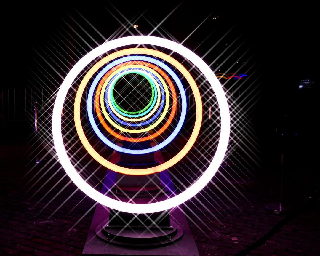 Light rings at the Toronto Light festival for boomervoice