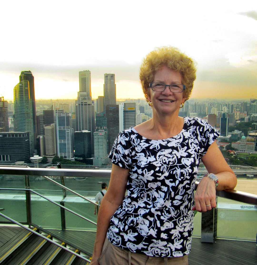Selfie from top of Marina Bay Sands for Benefits of solo travel on boomervoice