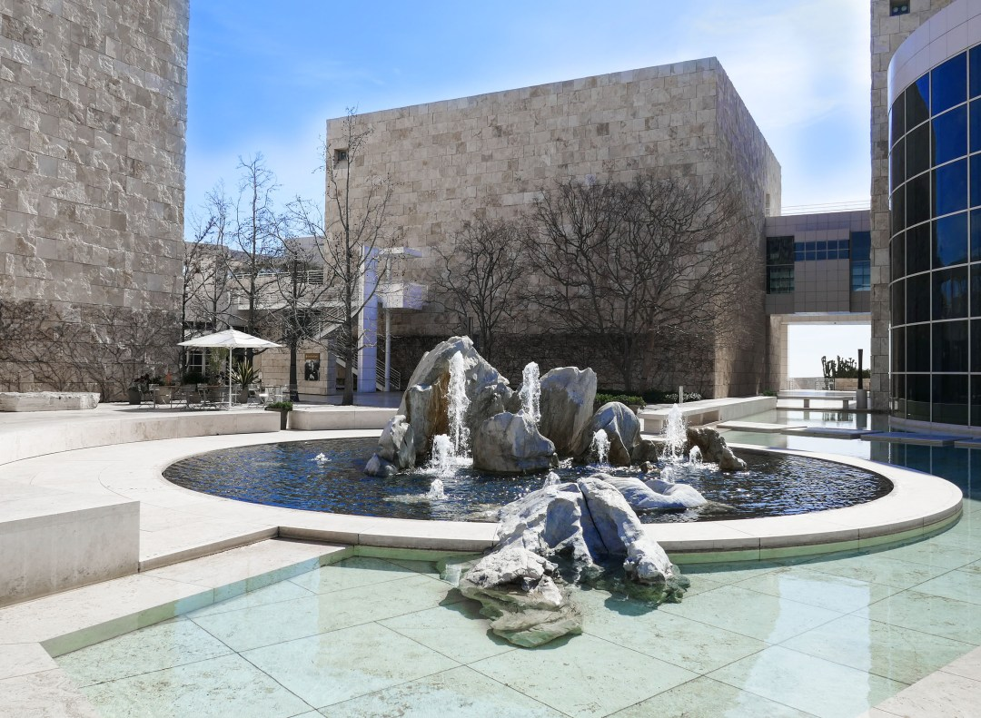 Getty Museum water fountain for boomervoice
