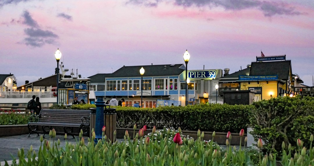 Pier 39 at sunset for boomervoice