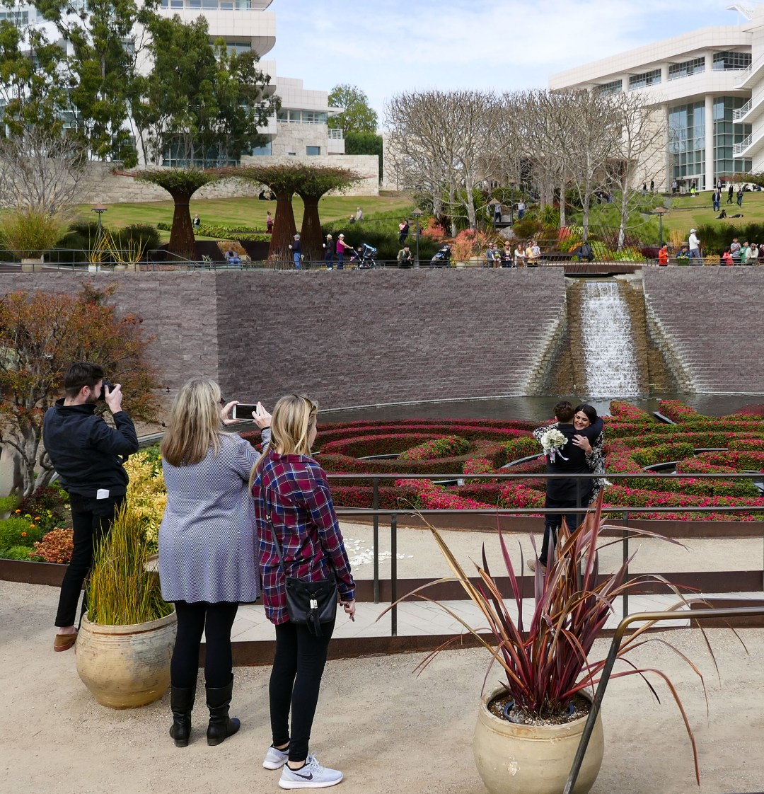 She said yes at the Getty Center for boomervoice