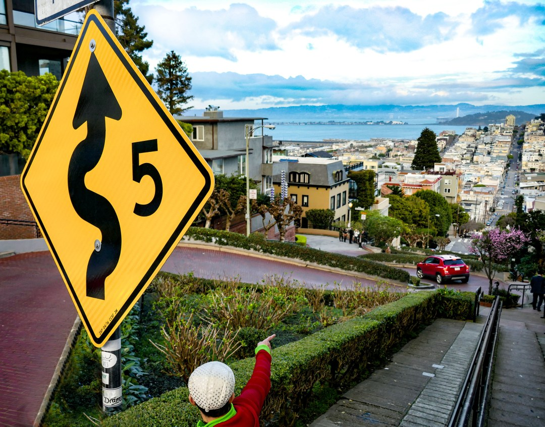 Top of Lombard Street for boomervoice