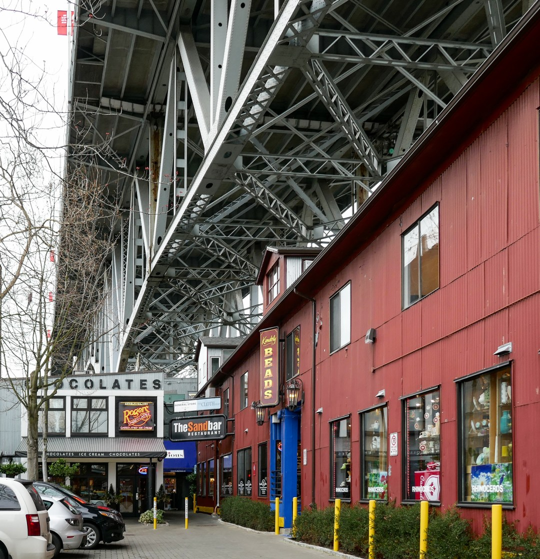 Granville Island under the bridge