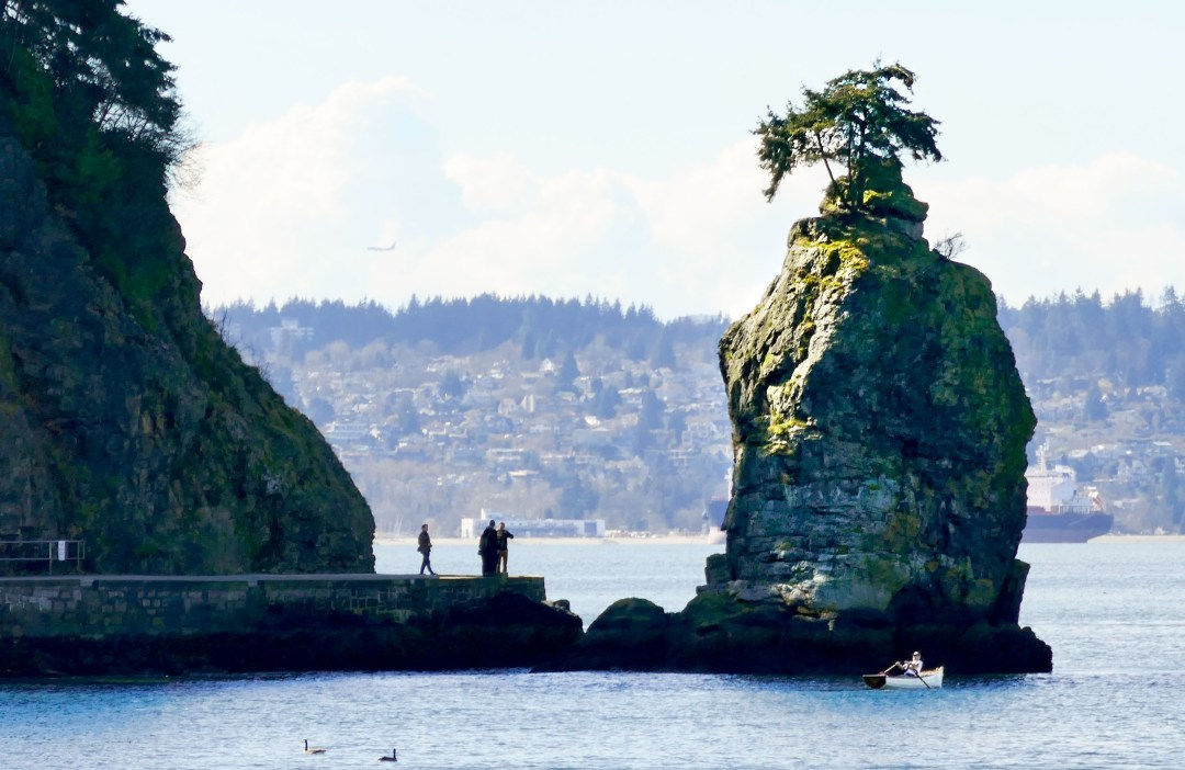 Siwash Rock in Stanley Park for boomervoice