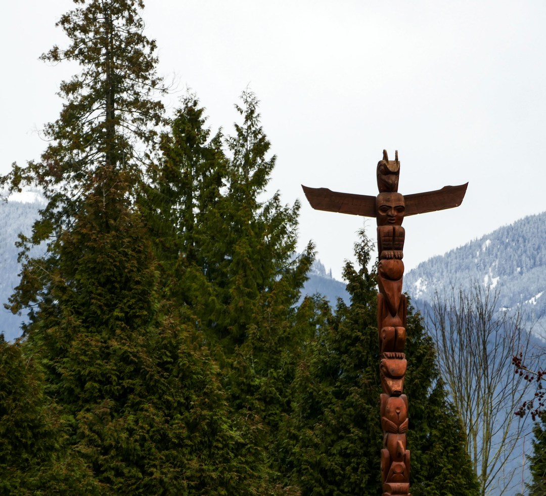 Totem Pole in Stanley Park for boomervoice