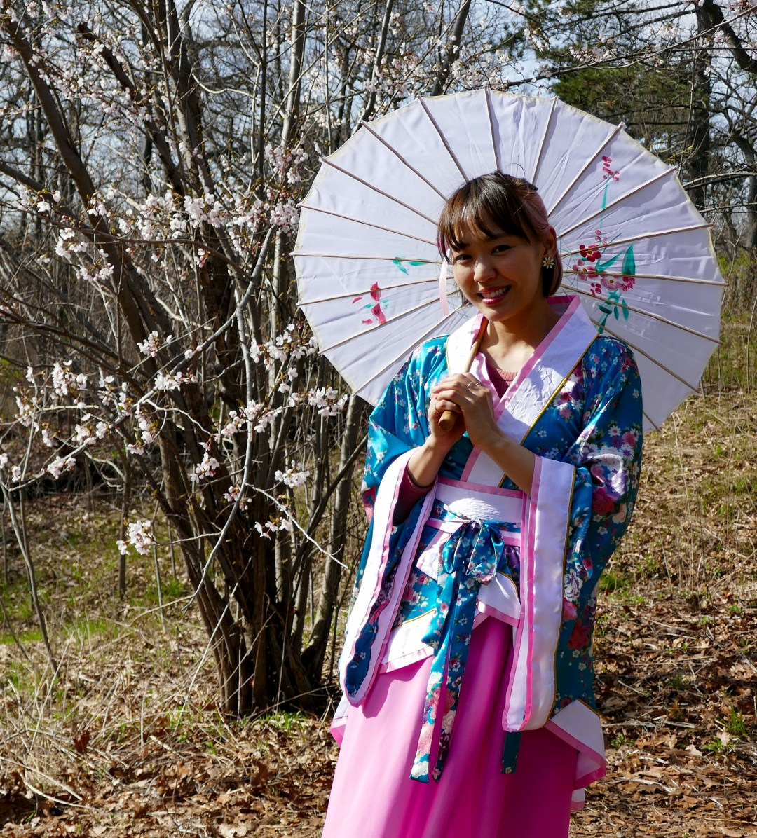 Traditional Japanese dress in High Park for boomervoice