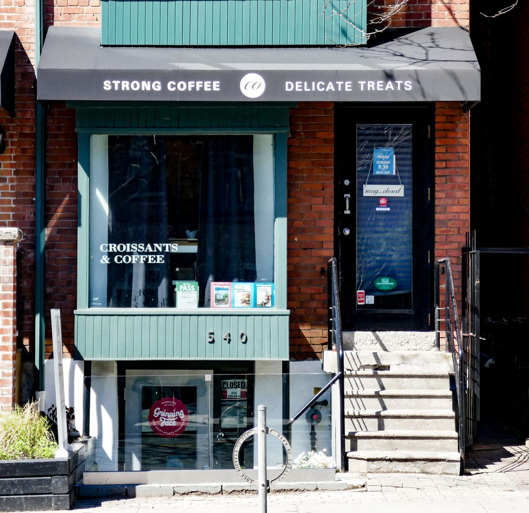 Croissant shop in Cabbagetown for boomervoice