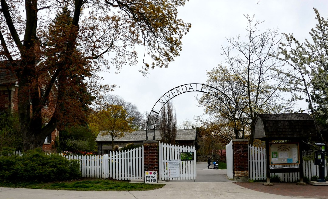 Riverdale Farm entrance in Cabbagetown for boomervoice