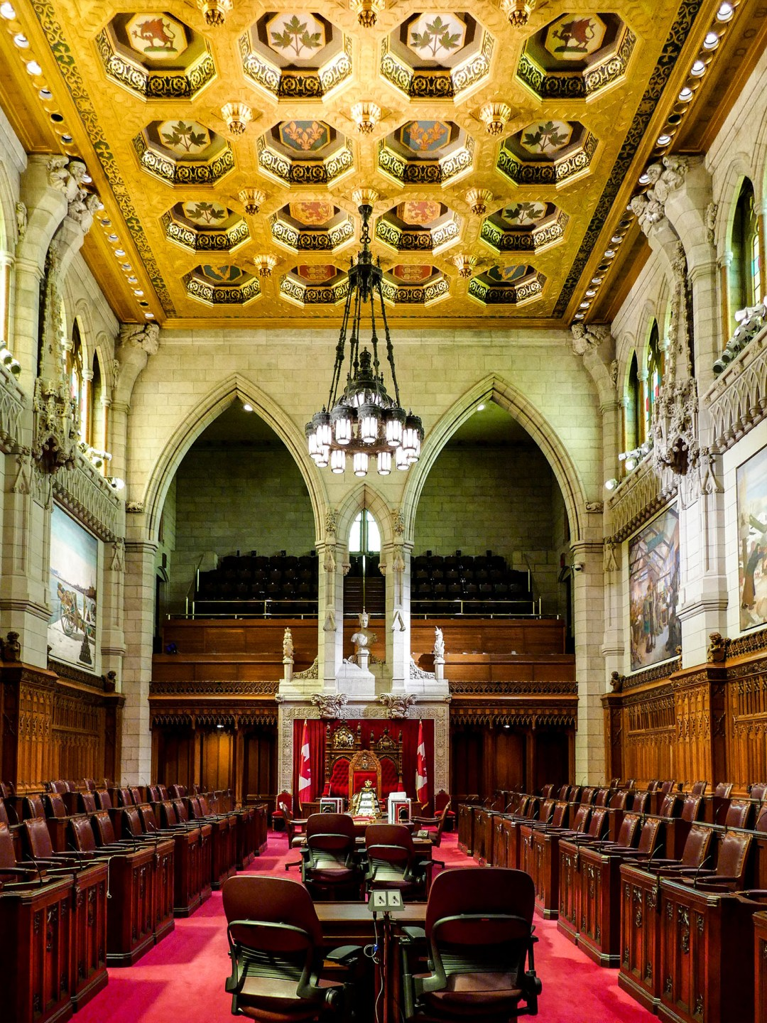 Inside the Senate on Parliament Hill for boomervoice