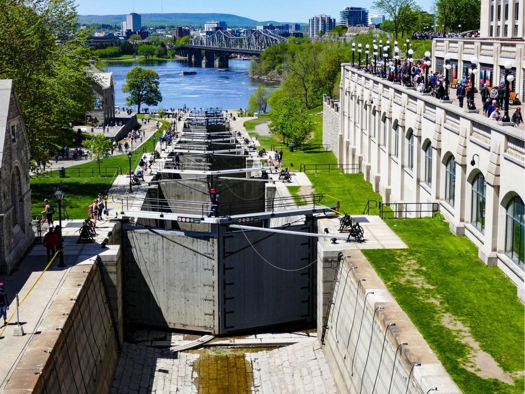 Rideau Canal locks for boomervoice