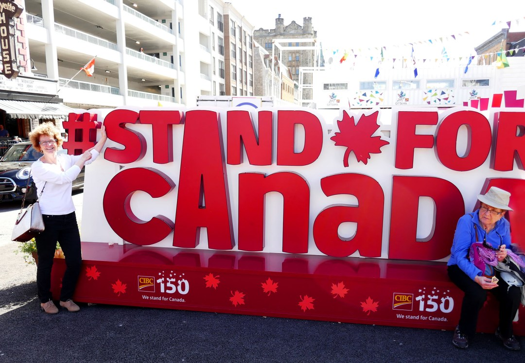 Stand up for Canada 150 for boomervoice