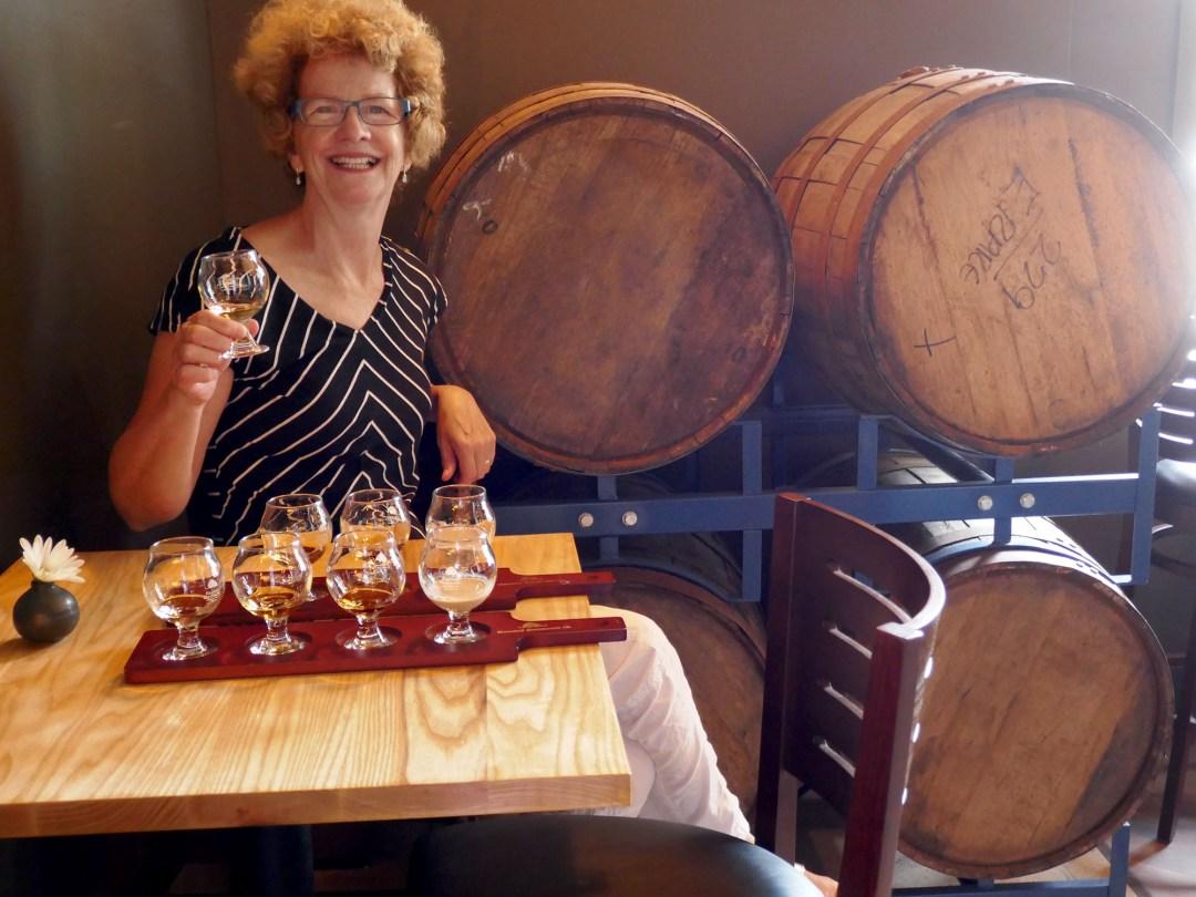 Rum tasting at Halifax Distilling Co