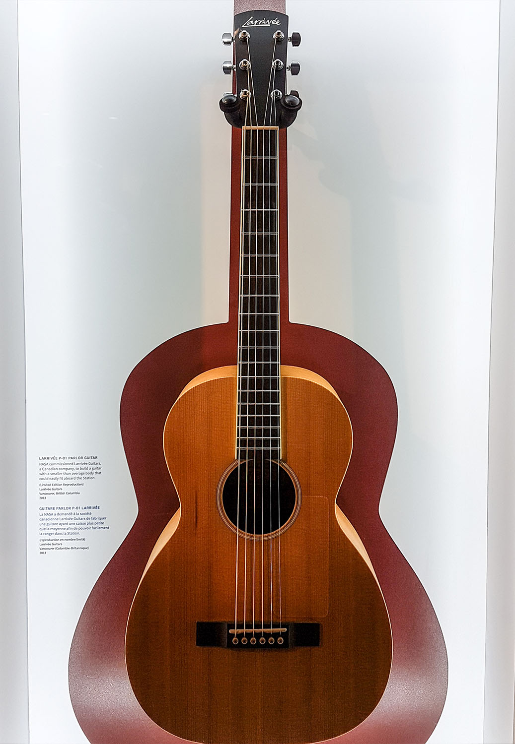 Larrivee Guitar in Canada Aviation and Space Museum on boomervoice