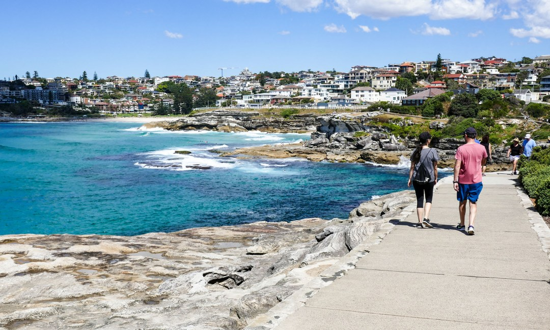 Rock outcropping on Coogee to Bondi walk for boomervoice