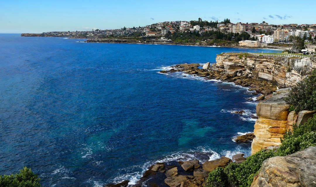 View of coastal walk on Coogee to Bondi walk for boomervoice
