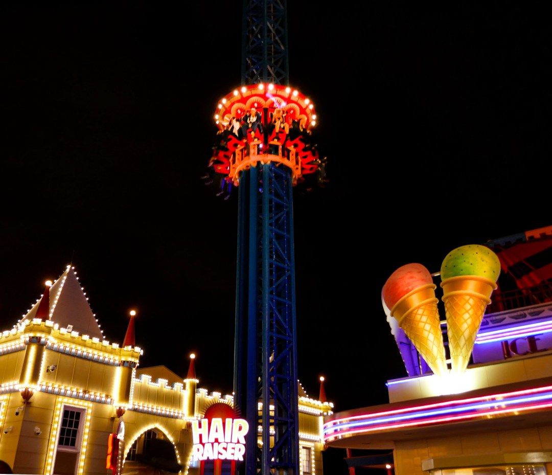 Hair raiser ride at Luna Park at the International Bar Association annual conference in Sydney for boomervoice