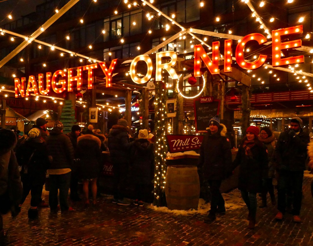 Naughty or Nice at the Toronto Christmas Market for boomervoice