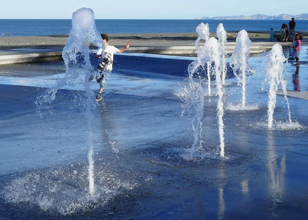 Fountains in the park in Napier for boomervoice