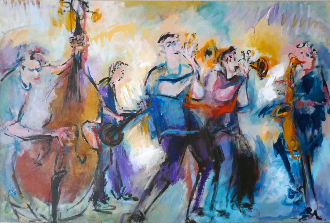 Jazz art in Napier New Zealand for boomervoice