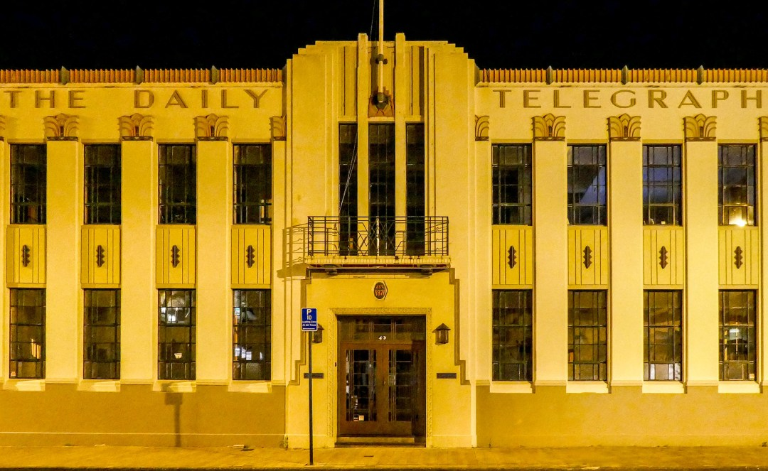 The Daily Telegraph building in Napier New Zealand for boomervoice