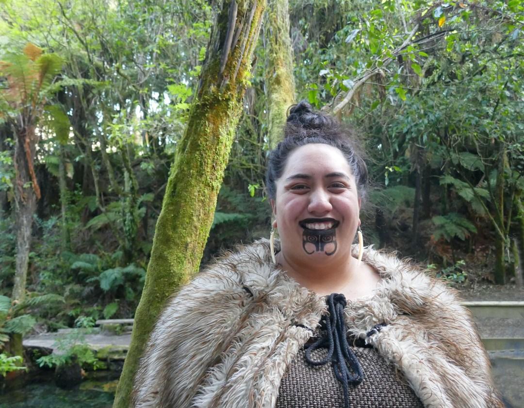 Māori woman in Rotorua for boomervoice
