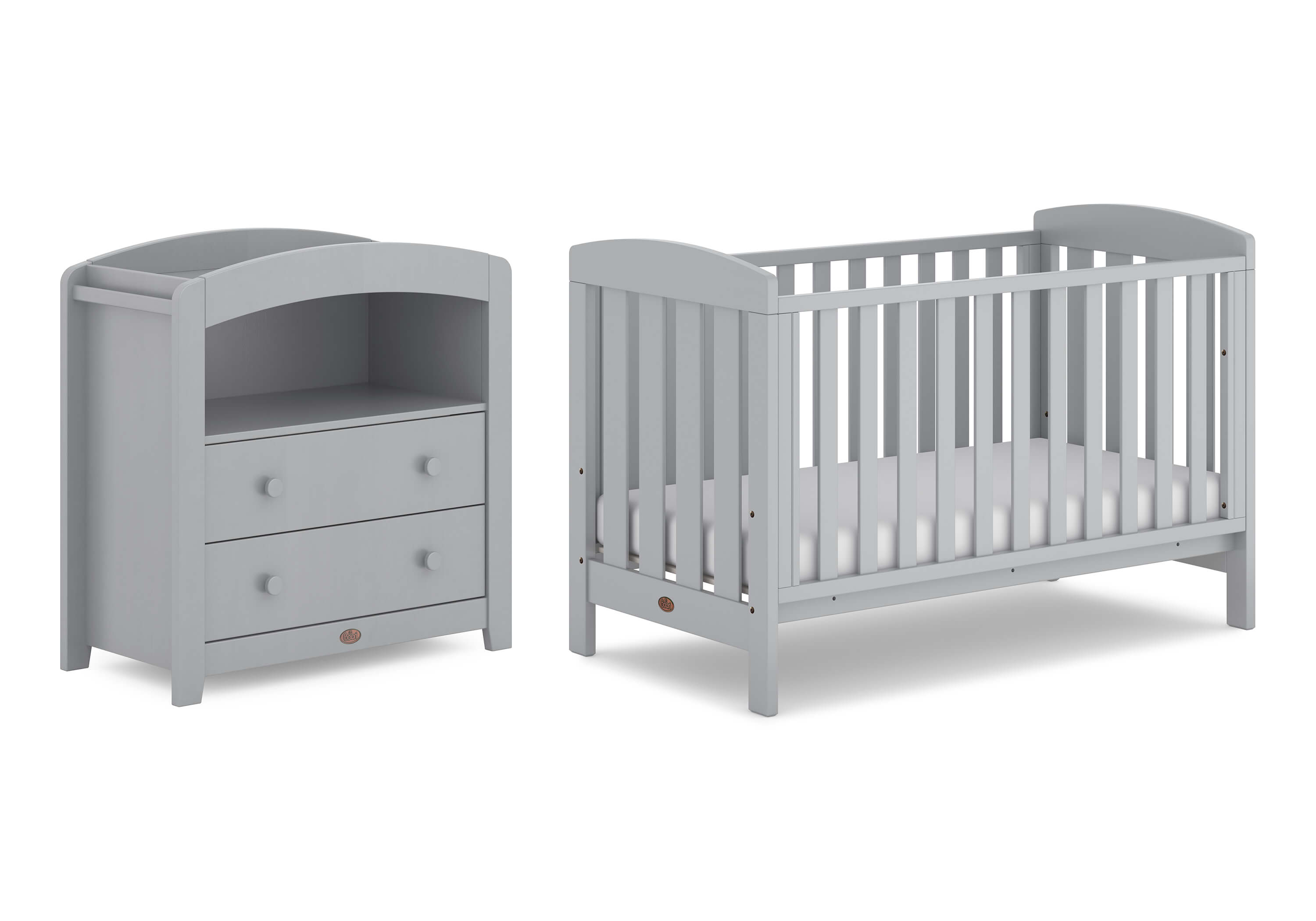 Alice 2 Piece Room Set With Curved 2 Drawer Chest Changer Pebble Boori