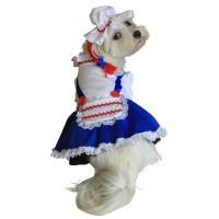 Raggedy Ann Hallowen Dog Costume, Halloween Costume For Dogs