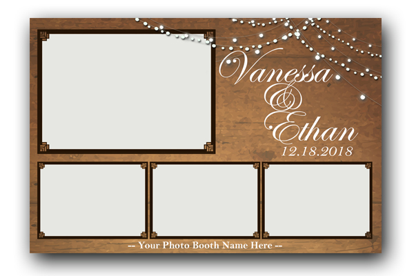 Rustic Wood with Lights Template (4x6) - Booth-Templates
