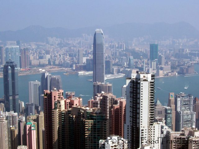 The Hong Kong skyline from Victoria Peak
