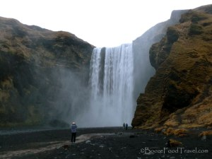 People on the tour give a little perspective of the size of Skogafoss