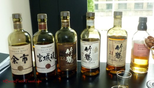 Collection of Nikka Japanese whiskey