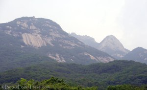 First view of Bukhansan National Park