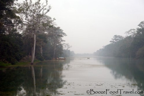 Stillness on the moat crossing into Angkor Thom