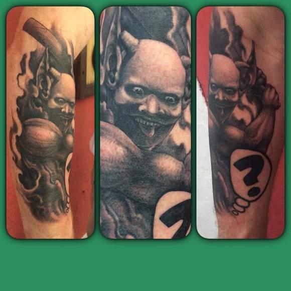 Demon tattoo by Lefty Molina