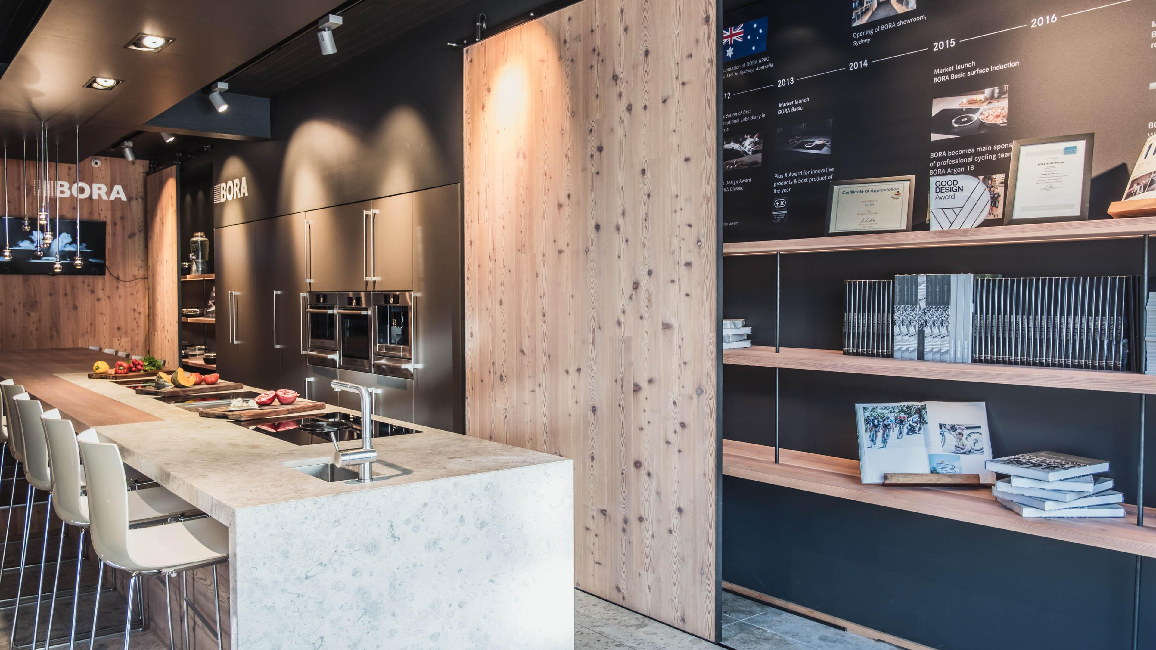 Kitchens Drummoyne Bora Showroom In Sydney Meet The Cooking Revolution