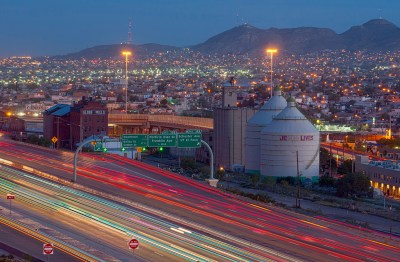 Last Days of the aLast Days, Globe Mills and traffic, El Paso, October 2015 Interstate 10 (I1