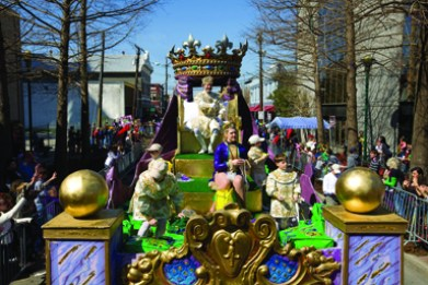 The King's Parade on Mardi Gras Day in Lafayette, La. Credit: Philip Gould