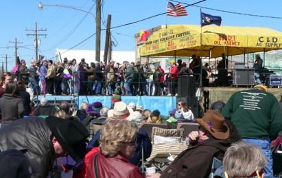Mardi Gras dancing in Iota, La. credit: Wendy Lemlin