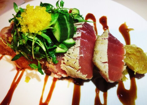 Seared bigeye tuna