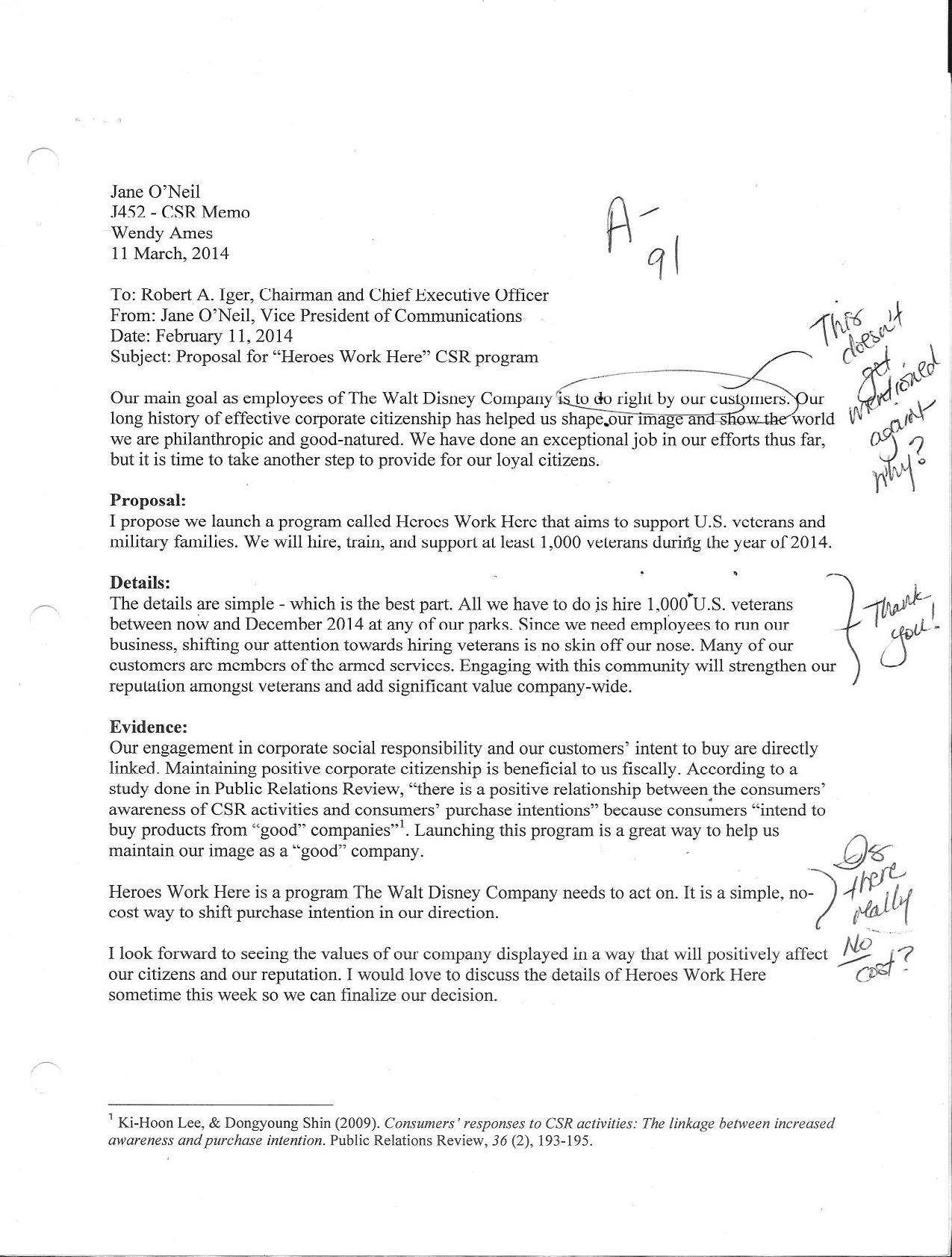 Writing A Case Study Organize Your Papers With Pro Help Student Work – Case Study 1 Csr Memo Borders No More