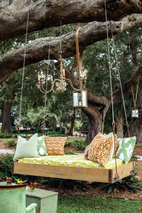 Hay Couch 40 Diy Tree Swing Ideas For More Family Time
