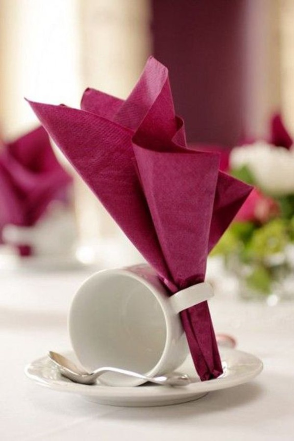 Servietten Rose Falten 40 Most Creative Table Napkin Folding Ideas To Practice