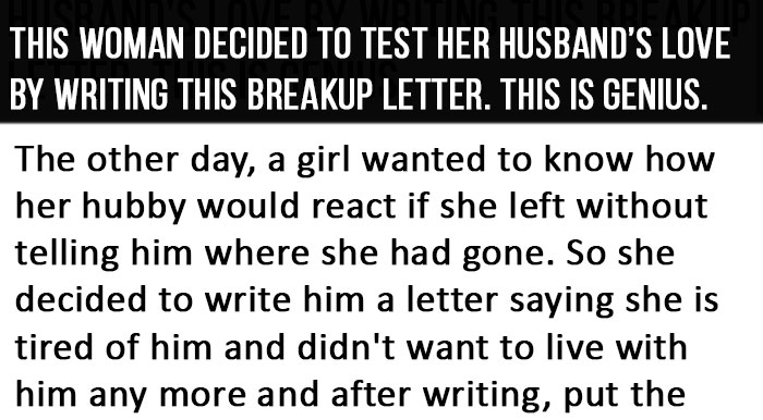 Best Reaction To A Breakup Letter This Is Genius -