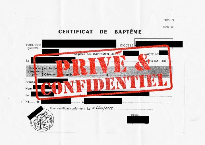 Transfert des certificats de baptême - La pétition